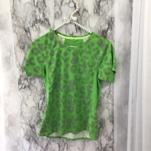 Nike Fit Dry Lime Green Animal Print Top